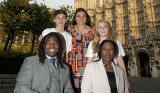 Paralympians and Send My Friend Young Ambassadors at the Houses of Parliament.
