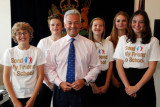 David Tucker, Kit Lamb, Lydia Kitchen, Kirstin Boomer and Alex Clacy met Minister for International Development Alan Duncan