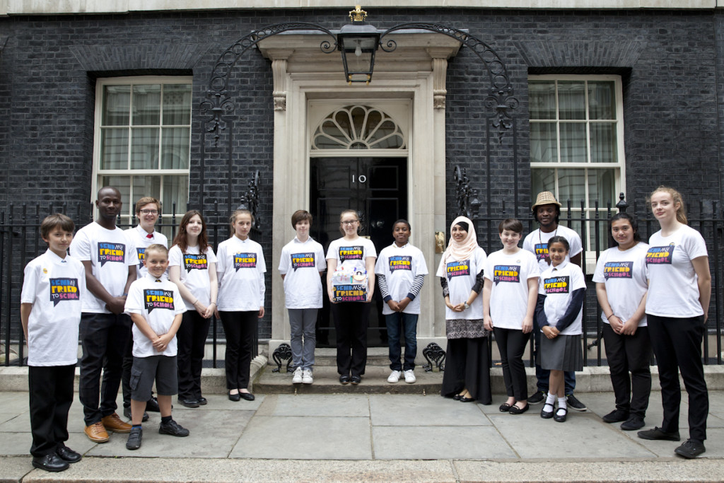 Send My Friend campaigners outside 10 Downing Street