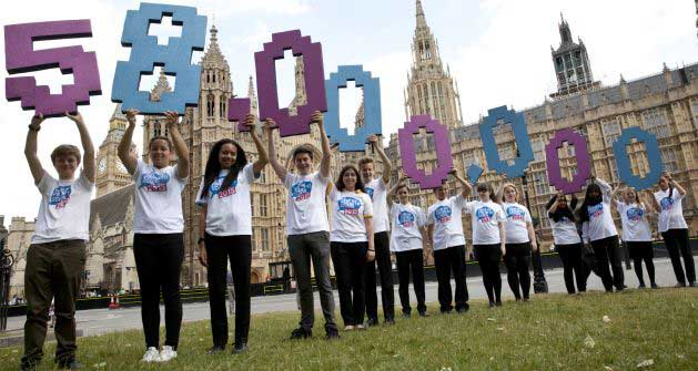 On our Day of Action thousands of young people across the UK are speaking out for the 58 million children out of school.