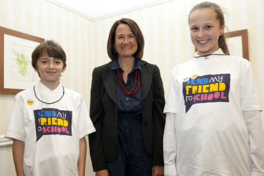 Mal and Alexandra with Catherine West
